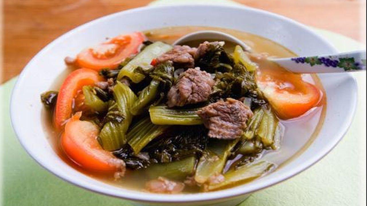 Canh dưa cải chua thịt bò